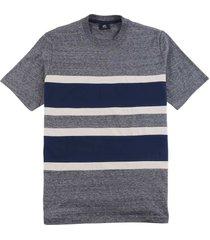 ash grey t-shirt met stoffen stribes