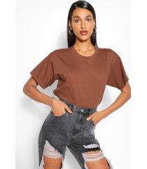 basic oversized t-shirt, chocolate
