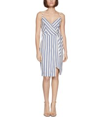 bcbgeneration striped wrap mini dress