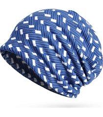cappelli di beanie multicolore della banda della stampa del cotone delle donne casuale all'aperto per uso dei cappelli e della sciarpa