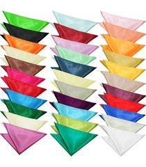 sock snob - mens evening dress satin pocket square / handkerchief in 30+ colors