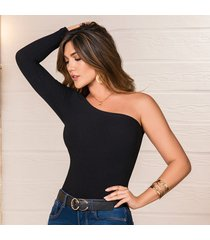 blusa bruna negro para mujer croydon