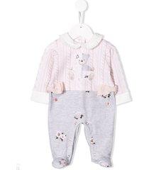 lapin house teddy bear pajama set - grey