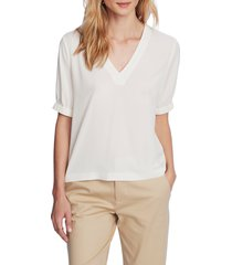 women's court & rowe banded sleeve blouse, size xx-large - white