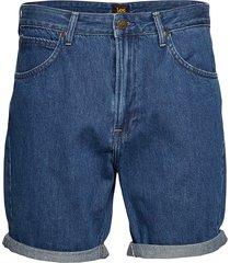 pipes tapered shorts jeansshorts denimshorts blå lee jeans