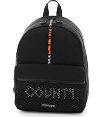 marcelo burlon county tape mesh backpack