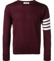 thom browne fine merino wool pullover - red