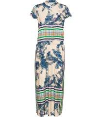long dress w. buttons maxiklänning festklänning blå coster copenhagen