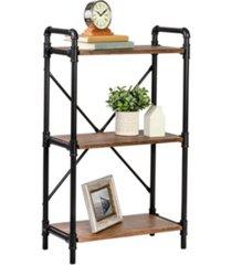 honey can do 3-tier industrial black bookshelf