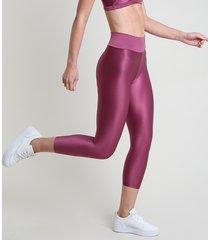 calça corsário feminina esportiva ace texturizada vinho