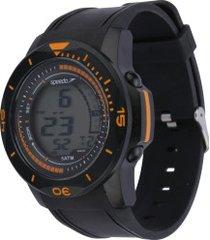 relógio digital speedo 81171g0 - masculino - preto