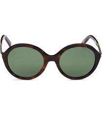 tod's women's 55m round sunglasses - havana green