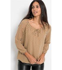 blouse met vetersluiting