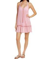 women's chelsea28 emilee tassel cover-up dress, size x-large - pink