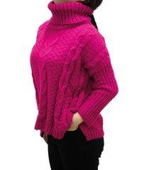 sweater fucsia design plus