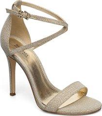 antonia sandal sandal med klack guld michael kors shoes