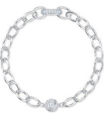 swarovski crystal large link magnetic bracelet