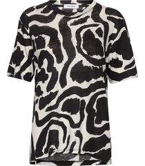 rodebjer paintswirl t t-shirts & tops short-sleeved svart rodebjer