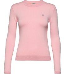 desiree sweater stickad tröja rosa guess jeans