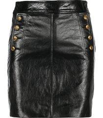 givenchy vintage leather mini skirt
