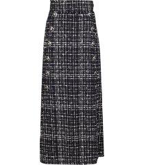 dolce & gabbana black cotton blend skirt