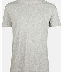 t-shirt med rund hals i bomull - ljusgrå
