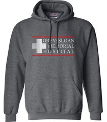 grey sloan memorial hospital greys anatomy unisex hoodie s-3xl dark grey