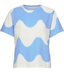 determinantti lokki t-shirt t-shirts & tops short-sleeved blauw marimekko