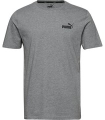 ess small logo tee t-shirts short-sleeved grå puma