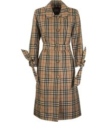 claygate vintage check recycled polyester car coat