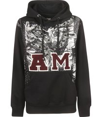antonio marras am logo detail hoodie