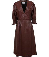 msgm leather effect dress