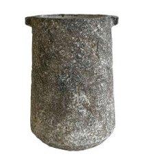 cachepot de cimento rústico 20,5x28cm