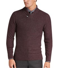 joseph abboud berry button shawl sweater