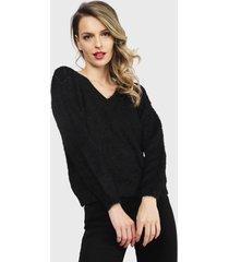 sweater nrg negro - calce holgado