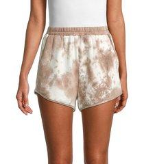 allison new york women's tie-dyed shorts - mocha - size m