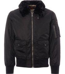 schott nyc ohara flight jacket - black