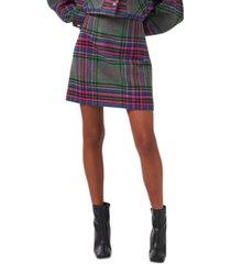riley & rae plaid mini skirt, created for macy's