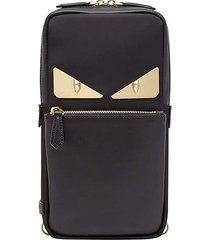 fendi bag bugs one-shoulder backpack - black