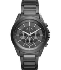 ax armani exchange men's chronograph black stainless steel bracelet watch 44mm ax2601