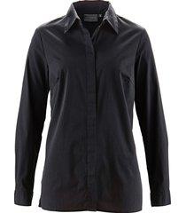 camicetta elasticizzata lunga (nero) - bpc selection