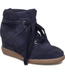 vibe shoes boots ankle boots ankle boot - heel blå pavement
