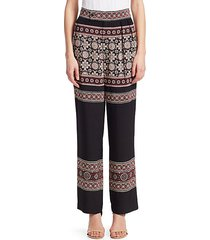 loose fit printed pants