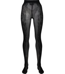 wolford x amina muaddi floral-motif tights