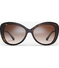mk occhiali da sole positano - tartaruga (marrone) - michael kors