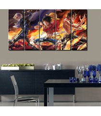 one piece luffy sabo ace anime 5 piece canvas art wall art picture home decor
