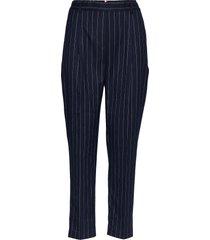 frankie pull on pant pantalon met rechte pijpen blauw tommy hilfiger