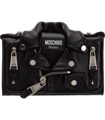 moschino biker wallet