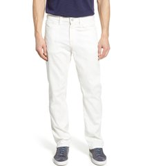 men's big & tall 34 heritage charisma relaxed fit jeans, size 44 x 34 - white