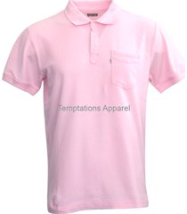 levis men's casual one pocket collаrеd shirt in pink